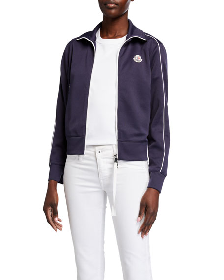 Moncler Track Jacket with Logo and Piping