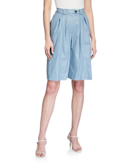LESYANEBO High-Waist Pleated Shorts