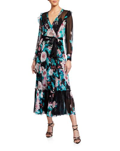 Linnett Floral-Print Wrap Dress