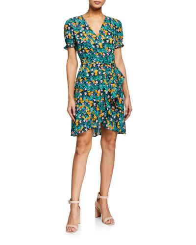 Emilia Floral-Print Wrap Dress
