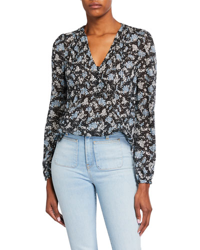Lowell V-Neck Floral-Print Blouse