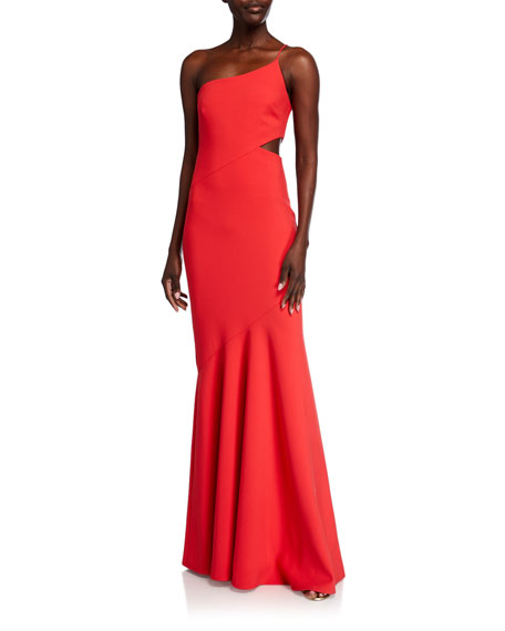 Likely Fina One-Shoulder Mermaid Gown