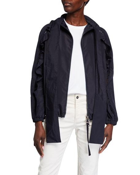 Moncler Ecarlate Self-Tie Rain Jacket