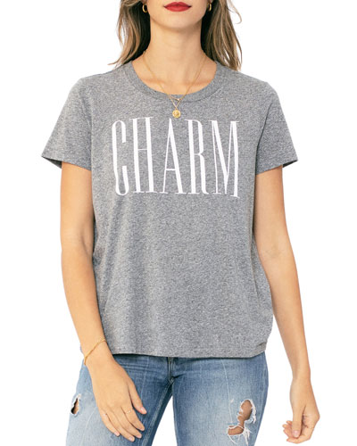 Charm Crewneck Heathered T-Shirt
