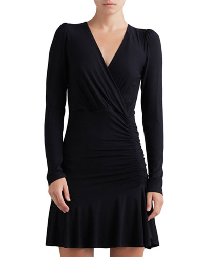 Leonora Ruched Long-Sleeve Dress