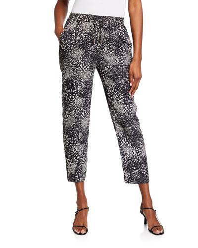 Ceylon B Animal-Print Pants