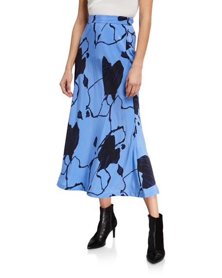 Equipment Iva Abstract Midi Skirt