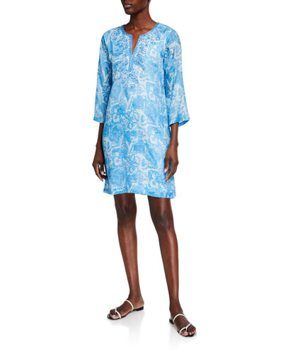 Cara 3/4-Sleeve Shift Dress