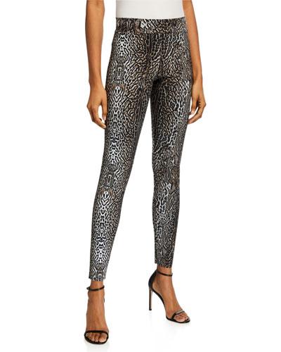 Colombe Animal-Print Skinny Pants