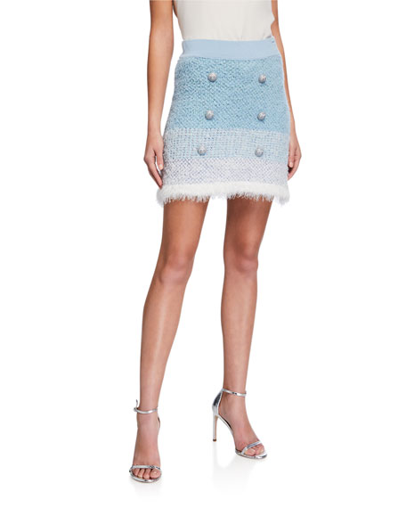 PINKO Remora Button-Front Short Skirt