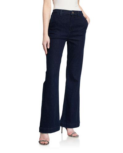 Tailorless Boot-Cut Denim Trousers