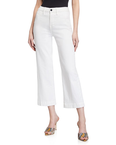 Mid-Rise Cropped Wide-Leg Jeans