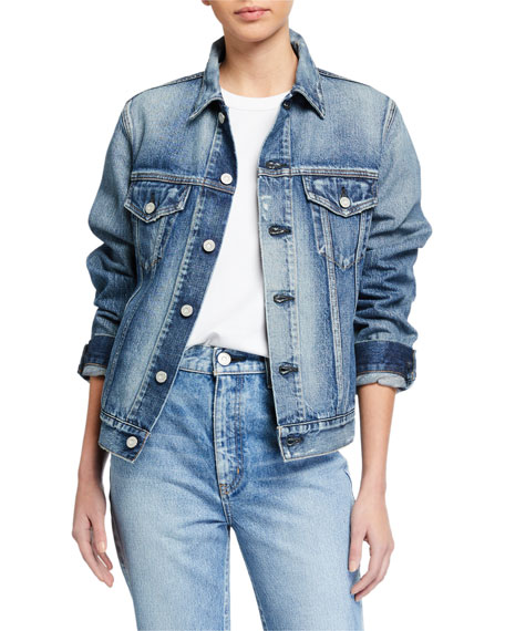 MOUSSY VINTAGE Brimfield Denim Trucker Jacket