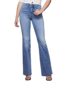 Good American Good Flare High-Rise Jeans - Inclusive