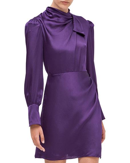 kate spade new york drape neck silk dress