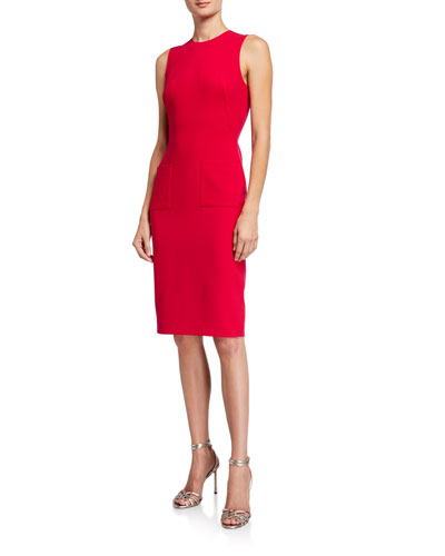 Indie Sleeveless Ponte Sheath Dress