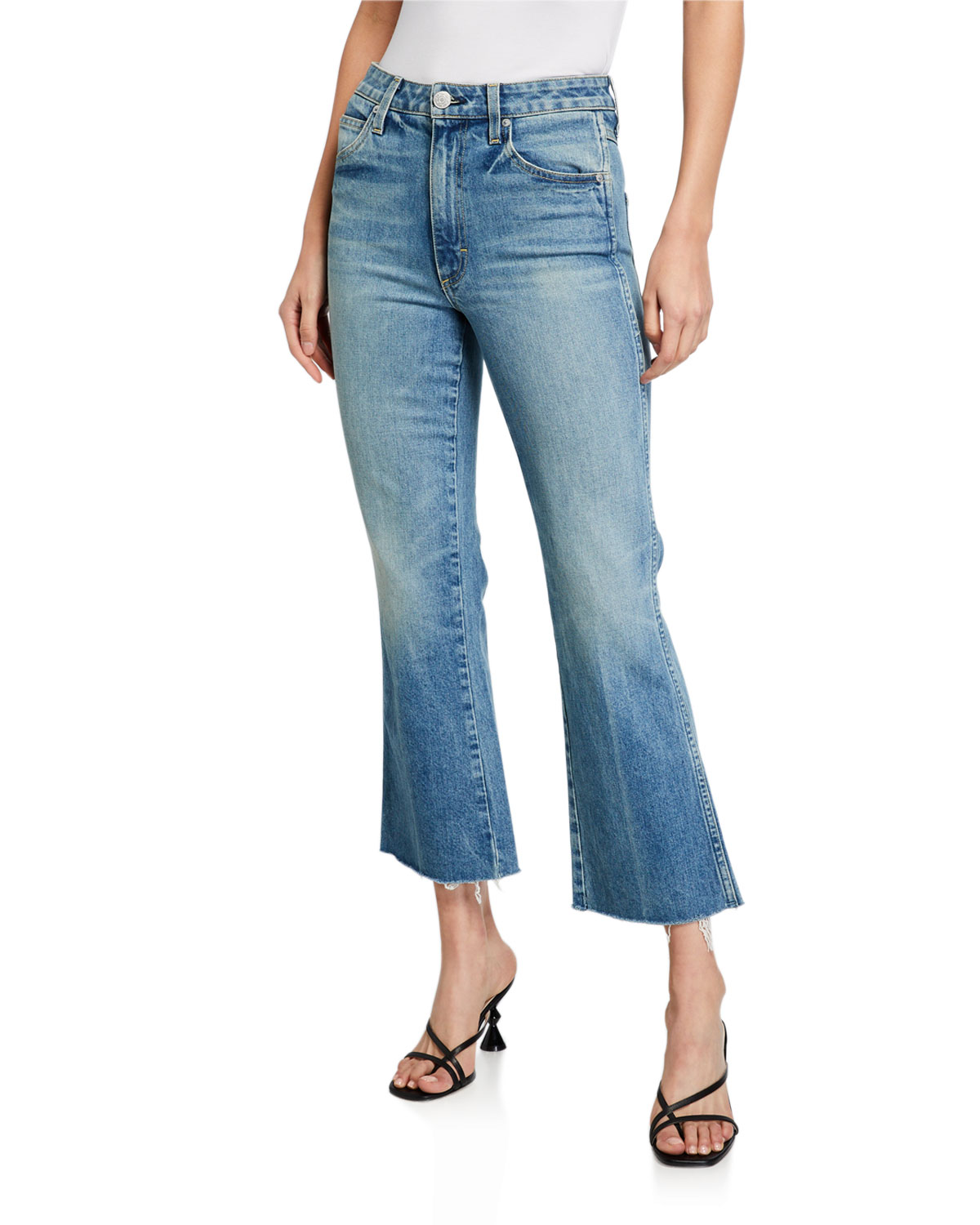 Amo Denim HIGH-RISE KICK CROP JEANS
