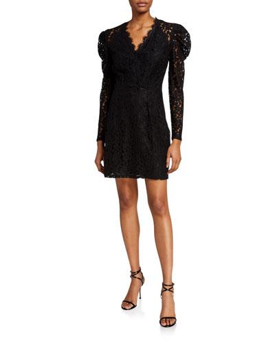 Spencer Puff-Sleeve Mini Dress