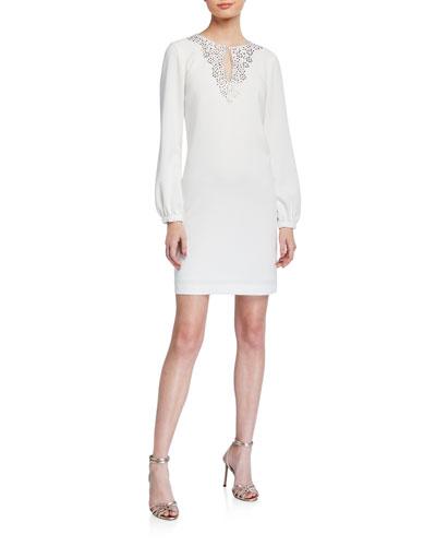 Tangle Long-Sleeve Sheath Dress
