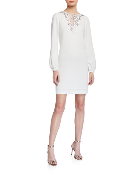 Trina Turk Tangle Long-Sleeve Sheath Dress