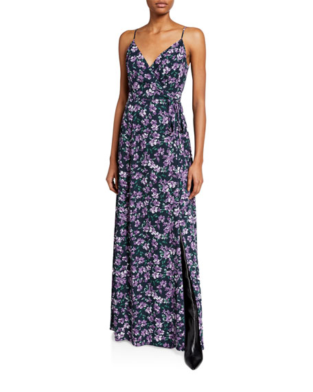 WAYF The Angelina Sleeveless Wrap Gown