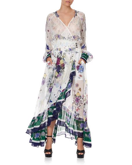 Camilla Floral Print Silk Chiffon Maxi Dress