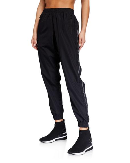 Adam Selman Sport Unisex Crystal-Trim Track Pants