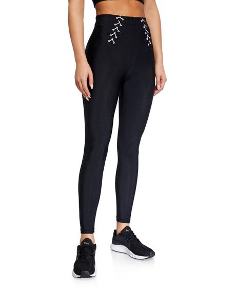 Adam Selman Sport Lace Up Active Leggings
