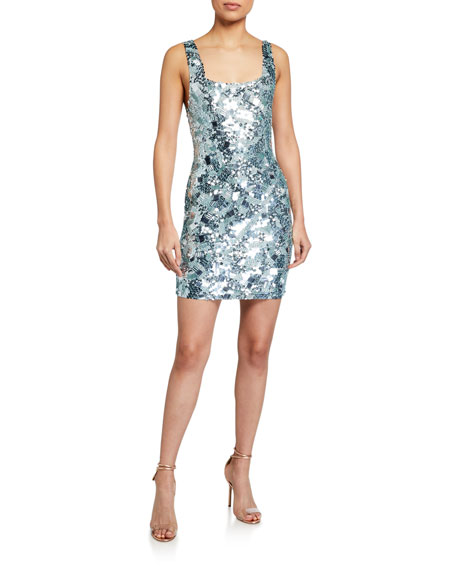 Alice + Olivia Addie Embellished Cocktail Dress