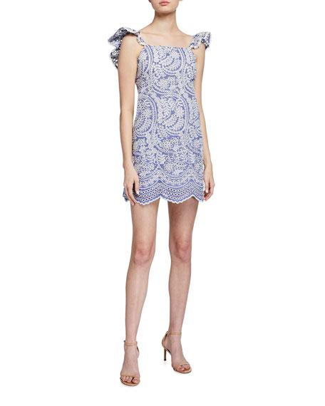 Alice + Olivia Honor Flutter Tunic Dress