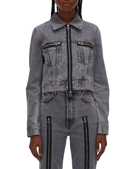 Helmut Lang Fem Little Zip-Front Trucker Jacket