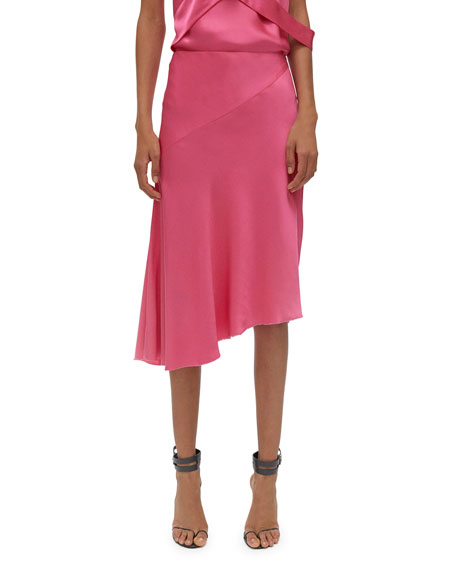 Helmut Lang Asymmetric Satin Skirt