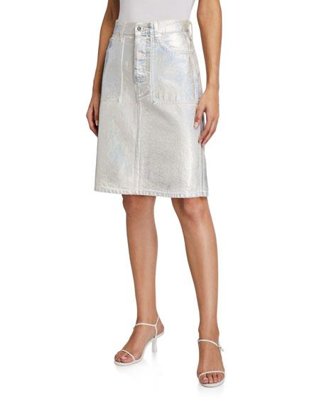 Helmut Lang Factory Metallic Skirt