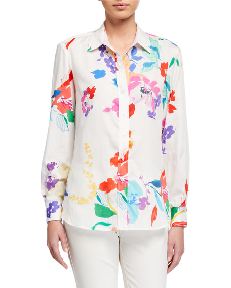 Finley Plus Size Alex Wild Floral Button-Down Shirt