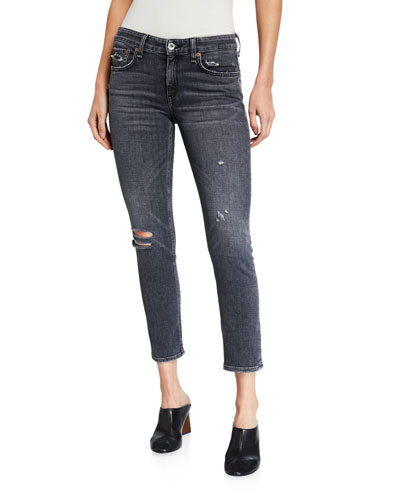 J BRAND Women Stylish Cropped Low Rise Ripped D Destroyed Skinny Jeans New