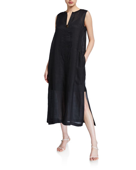 Lafayette 148 New York Byrne Gemma Cloth Pullover Duster