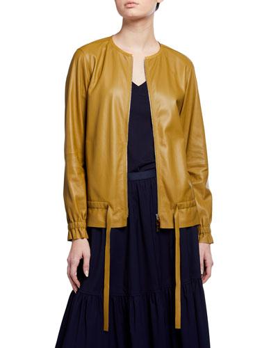 Chapman Supple Napa Zip-Front Leather Jacket
