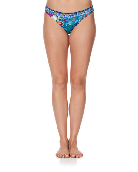 Camilla Printed Embellished Bikini Bottom