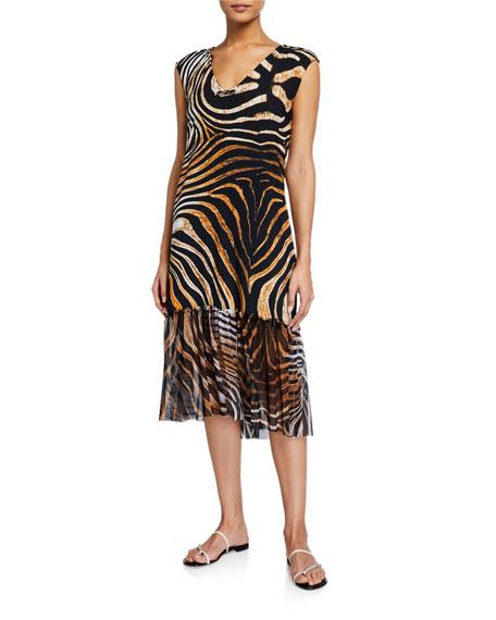 Chiara Boni La Petite Robe Zehra Illusion Printed Coverup Dress