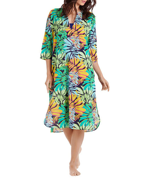 Vilebrequin Fare Printed 3/4-Sleeve Coverup