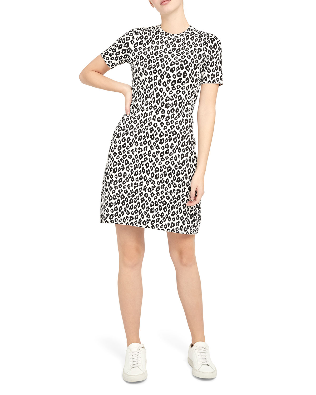Theory Dresses LEOPARD-PRINT TEE DRESS