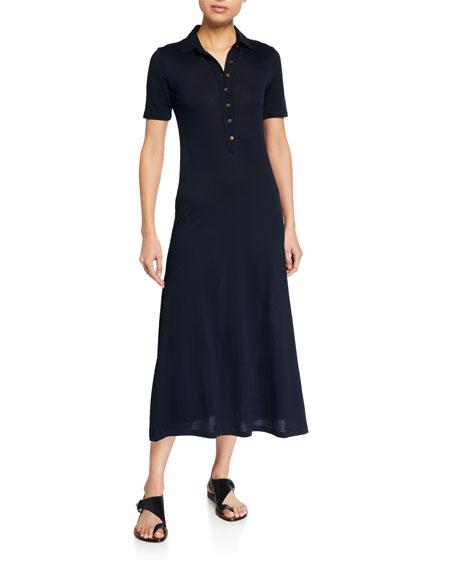 Rag & Bone Rower Short-Sleeve Polo Dress