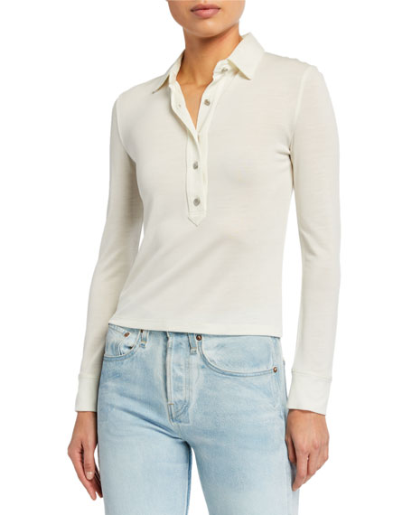 Rag & Bone Rower Fitted Polo Top