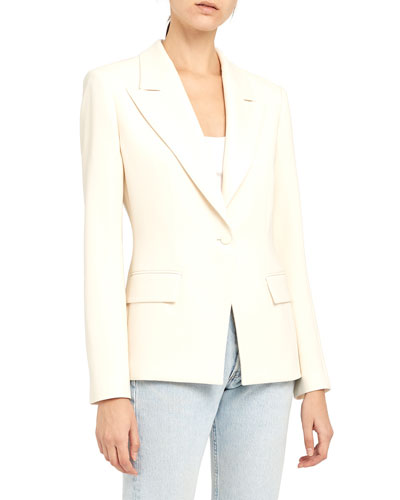 Angled One-Button Blazer