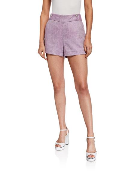 Veronica Beard Kimm Linen Shorts