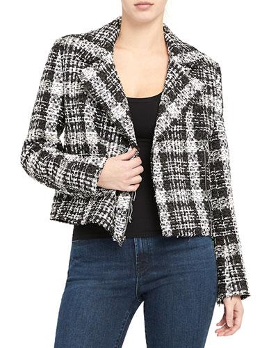 Slim Moto Tweed Jacket