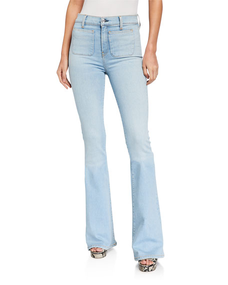 Veronica Beard Jeans Florence High-Rise Flare Jeans