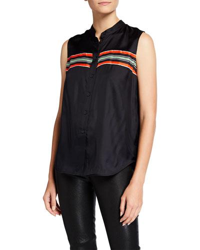 Isadora Striped Short-Sleeve Top