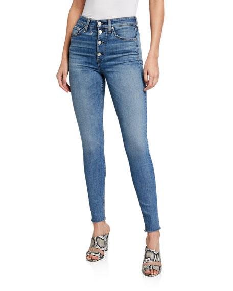 Rag & Bone Nina High-Rise Skinny Jeans w/ Button Fly