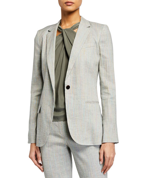 Theory Staple Single-Button Blazer